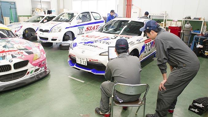 モータースポーツ科実習場